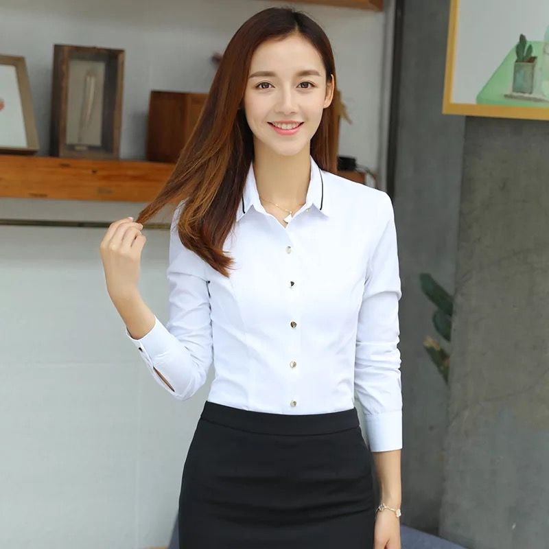 条纹职业衬衫