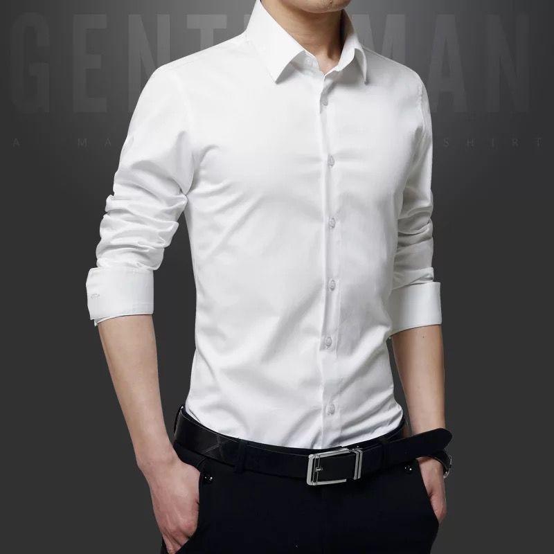 男士修身印花长袖衬衫