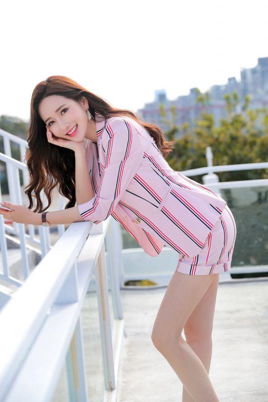 订做春夏新潮时尚中袖西装职业装女短裤套装正装东莞工作服个性西服