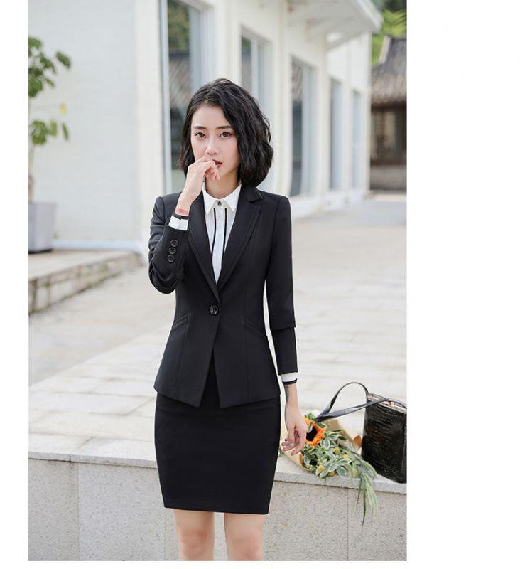 秋冬职业装修身长袖西装教师大学生面试白领OL正装直销