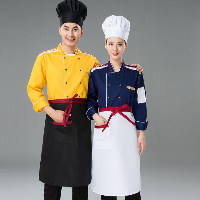 厨房工作制服 厨衣 西餐厅饭店后厨厨师服长袖
