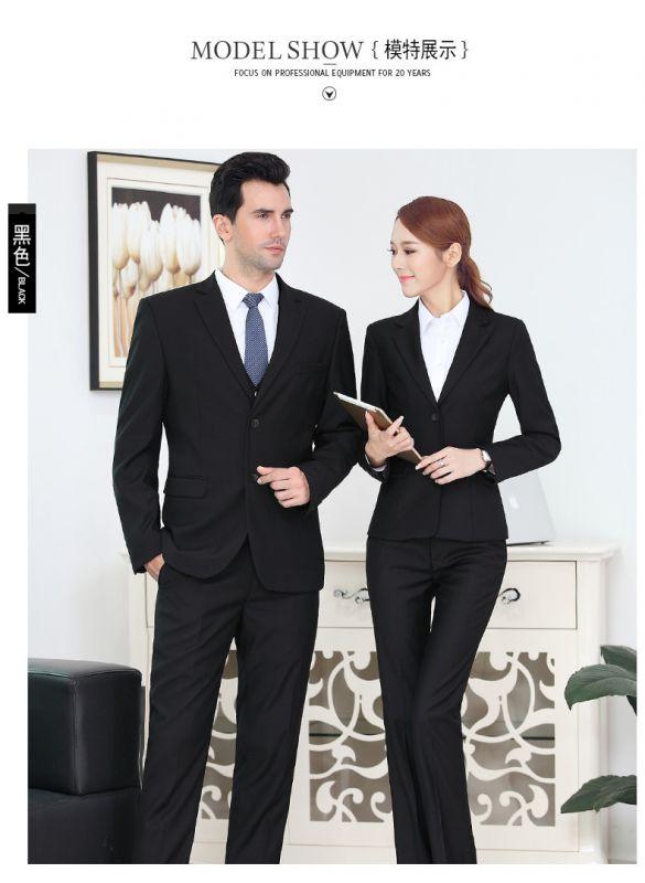 定做男款职业商务正装青年西装套装西服修身东莞工作服厂家批发绣LOGO