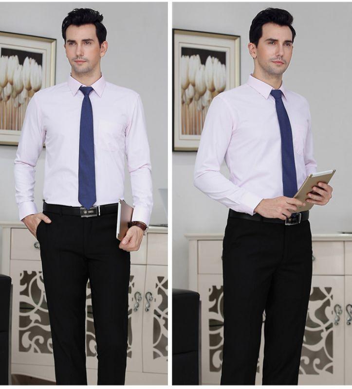 男款职业装 长袖衬衫 套装房地产4S销售商务正装东莞工作服可绣LOGO