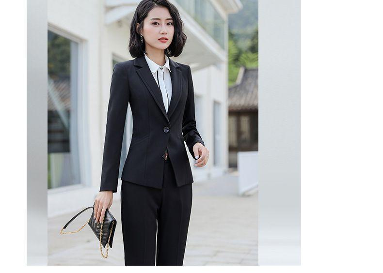 秋冬职业装 女套装 修身长袖西装教师大学生面试白领OL正装直销