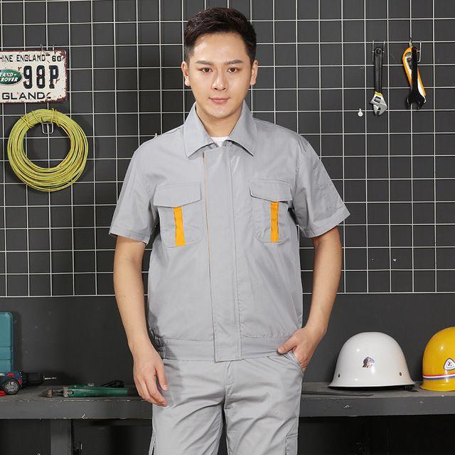 夏季短袖别克4S店售后工作制服 修理厂维修汽车美容东莞工装 男女工程服