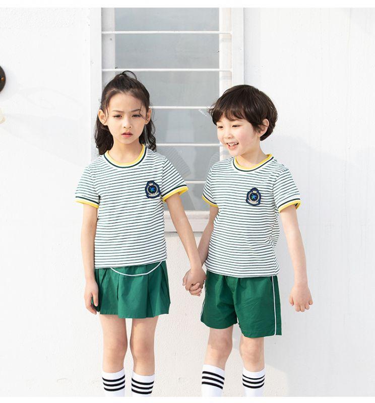夏季幼儿园园服 夏装新款小学生校服 纯棉英伦套装 风儿童班服学院风