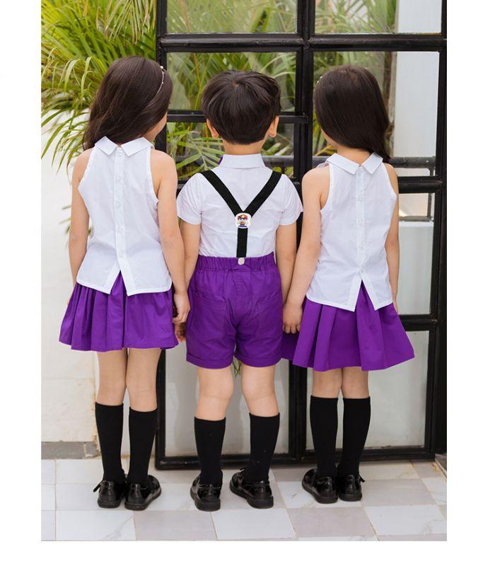 幼儿园园服 新款男女儿童套装 六一儿童节合唱服 演出服装舞蹈表演服