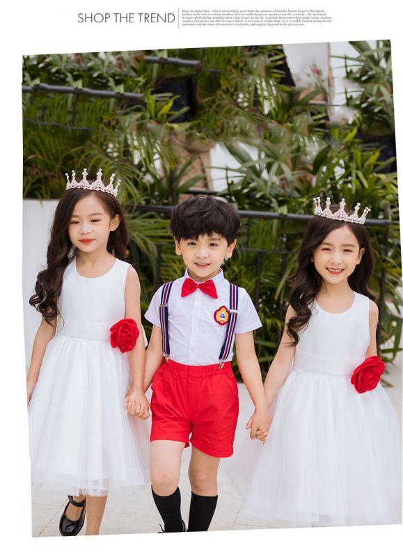 夏季新幼儿园园服夏装 小学生校服班服 六一表演服儿童舞蹈服英伦风