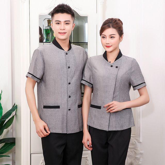 短袖酒店工作服 物业清洁工保洁服 夏装宾馆客房服务员工装保洁服