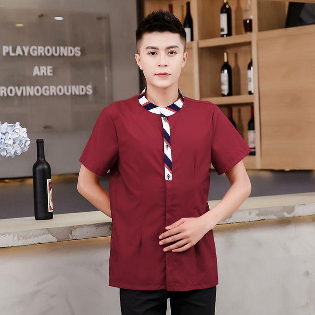 酒店蛋糕火锅餐厅快餐网咖服务员工作服 短袖长袖餐饮烘焙春夏装女