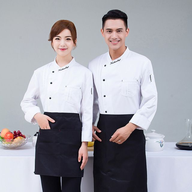 厨师服长袖秋冬装 酒店西餐厅厨房饭店烘焙蛋糕厨房工作服